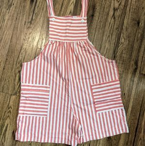 90s vintage Maternity Express stripped Overalls